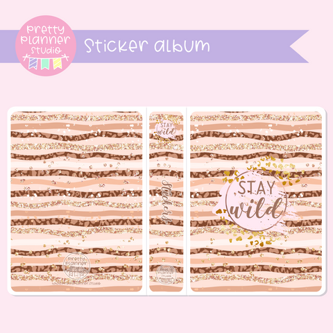 Wild & chic - fashion - Stay wild | sticker album | WF-006/1
