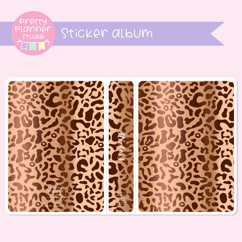 Wild & chic - fashion - Leopard print | sticker album | WF-006/2