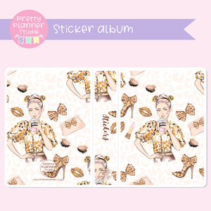 Wild & chic - fashion - Lady | sticker album | WF-006/4