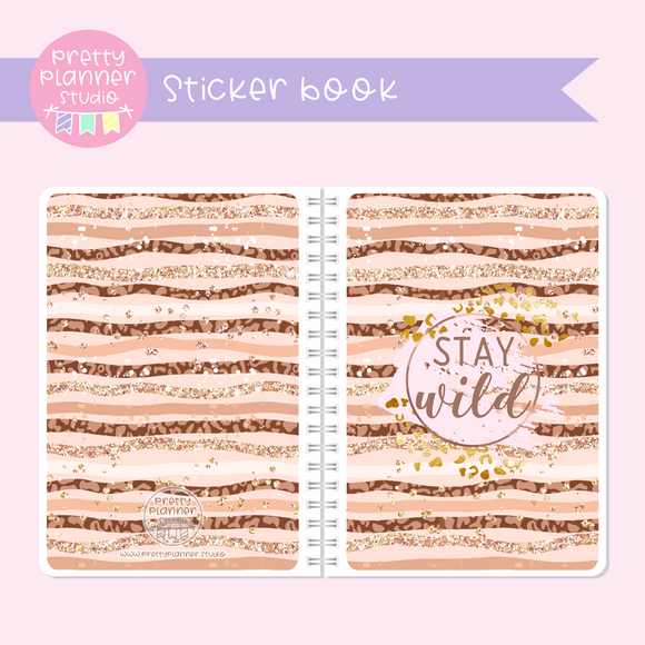 Wild & chic - fashion - Stay wild | sticker book | WF-007/1