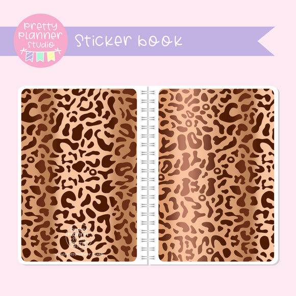 Wild & chic - fashion - Leopard print | sticker book | WF-007/2