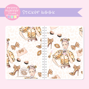 Wild & chic - fashion - Lady | sticker book | WF-007/4