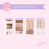 Wild & chic - fashion | weekly sticker kit | Hobonichi Weeks | WF-211