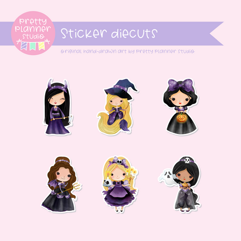 Wicked lil princess | sticker diecuts | WP-921 to WP-925