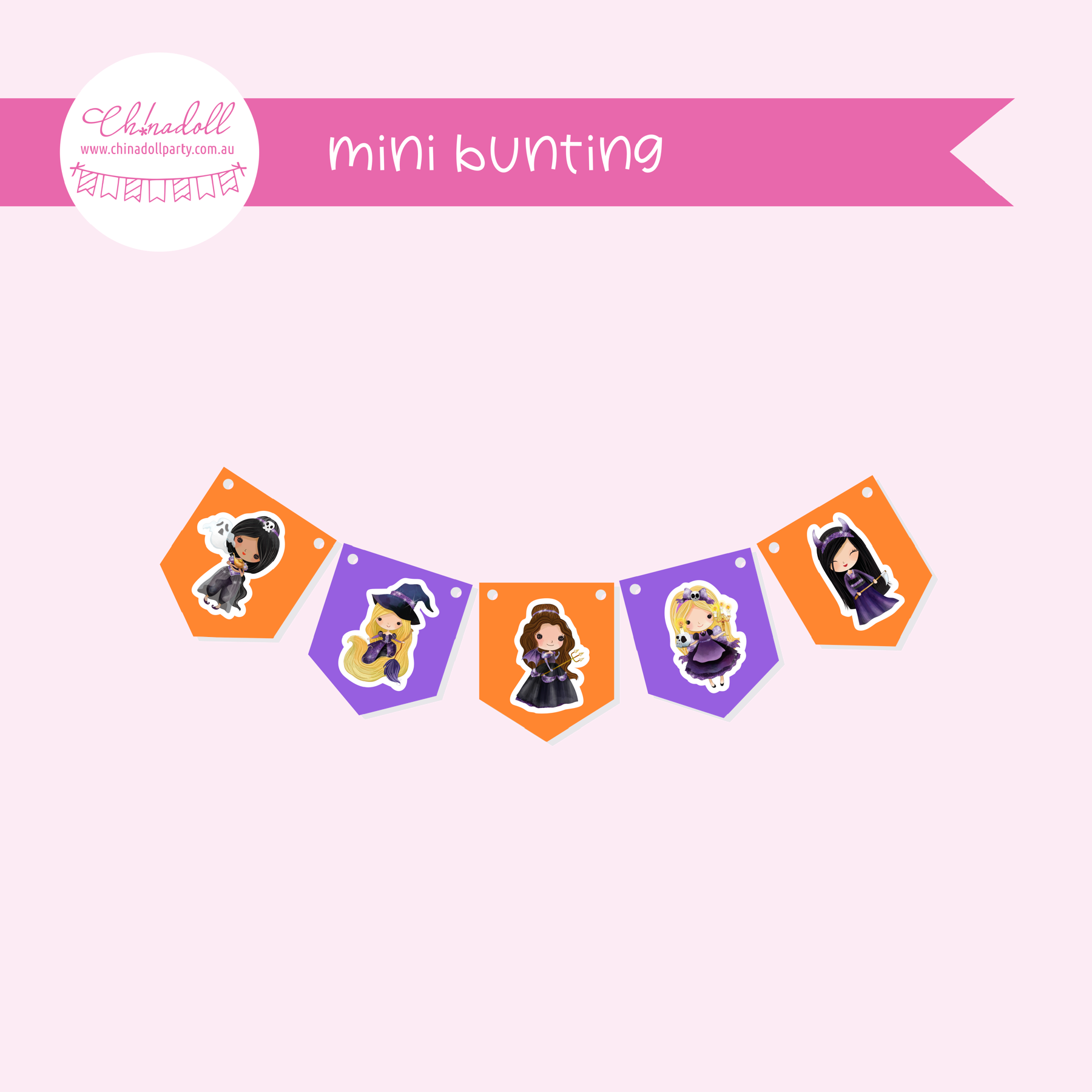 Wicked lil princess | mini bunting | WP-941