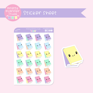 Work & study - books | sticker sheet | WS-004/2