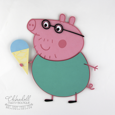 peppa pig backdrop decoration | daddy pig