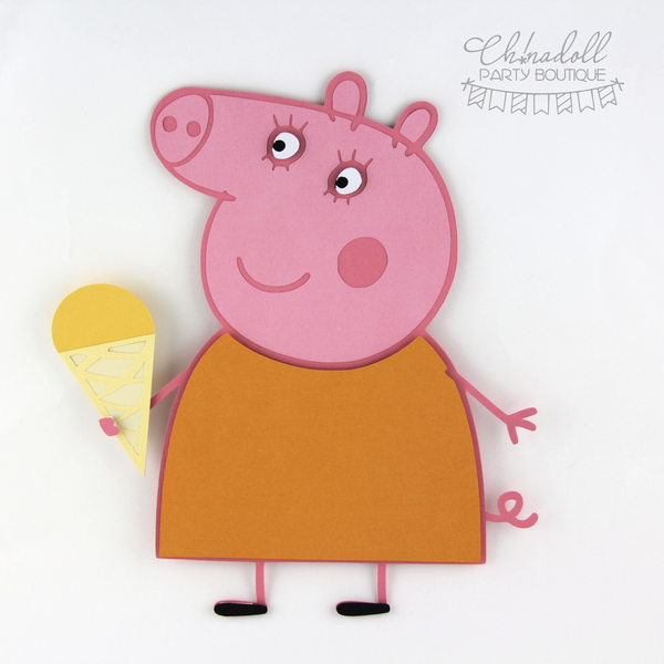 peppa pig backdrop decoration | mummy pig