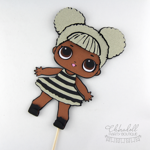 LOL surprise cake topper | queen bee | glitter