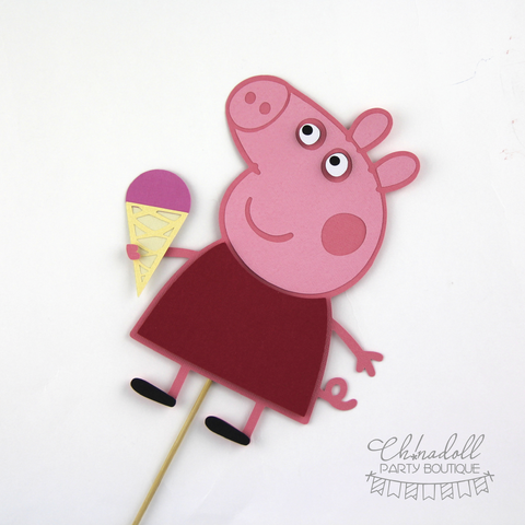 peppa pig cake topper | peppa | READY TO SHIP