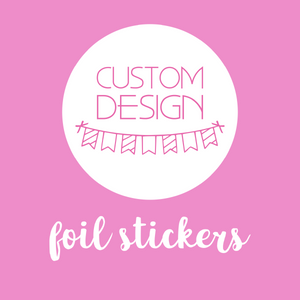 planner supplies - foil stickers | custom design