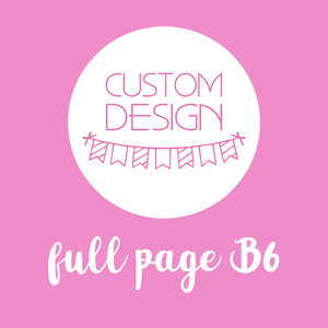 planner supplies - full page B6 sticker | custom design