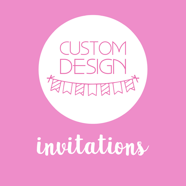 party styling - party invitations | custom design