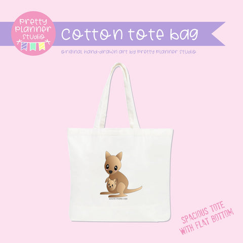 Bush friends - Kangaroo | cotton tote bag | BF-009/1 | OOPS
