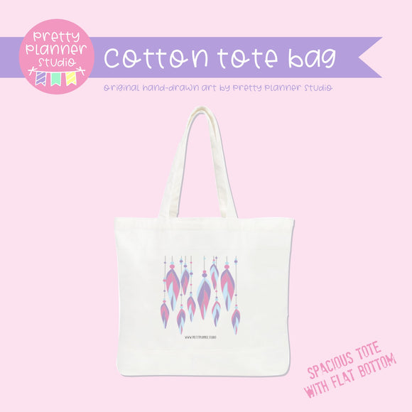 Boho style - Feathers | cotton tote bag | BS-009/1