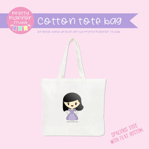 Planner girl - Mila | cotton tote bag | PM-009/1 | OOPS