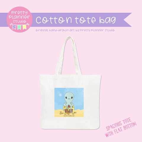 Under the sea - octopus | cotton tote bag | US-009/1 | OOPS