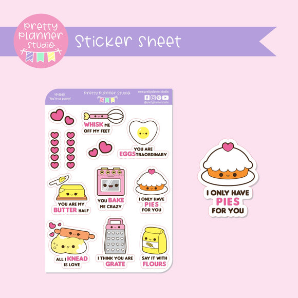 You're so punny! - baking | deco sticker sheet | YP-004/4
