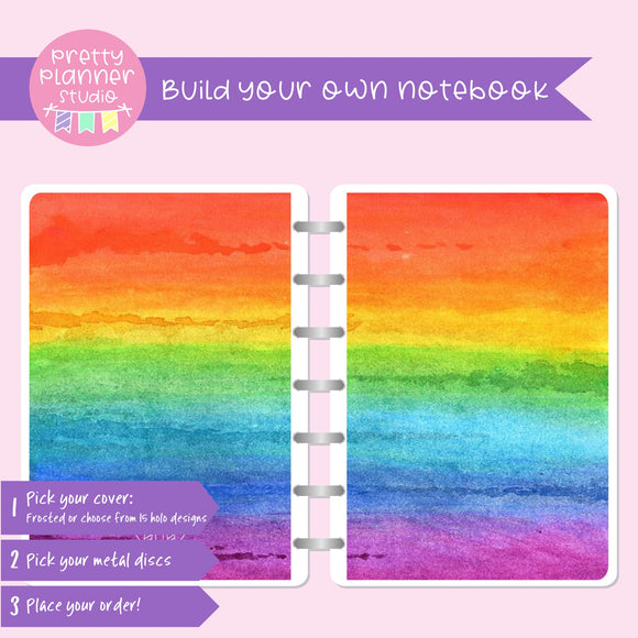Love and rainbows - Watercolour | Build your own notebook | LR-008/1