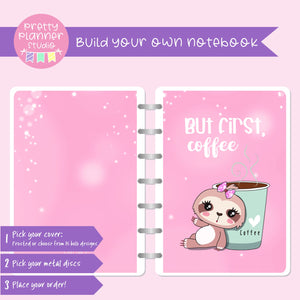 Sloth Life II - But first, coffee - Bronnie Sloth | Build your own notebook | SL-008/3