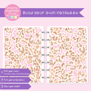 Wild & chic - Pink leopard | Build your own notebook | WC-008/3