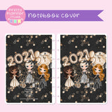 New year cheer - Friends | holographic planner / notebook cover | Build your own notebook | NY-008/1