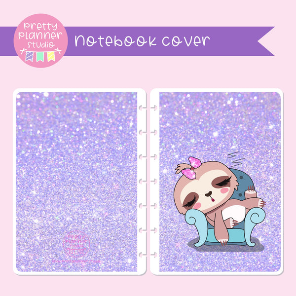Sloth Life II - Lounging around | holographic planner / notebook cover | Build your own notebook | SL-008/1