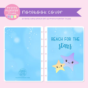 Under the sea - Reach for the stars | holographic planner / notebook cover | Build your own notebook | US-008/2
