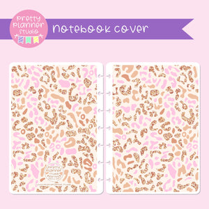 Wild & chic - Pink leopard | holographic planner / notebook cover | Build your own notebook | WC-008/3