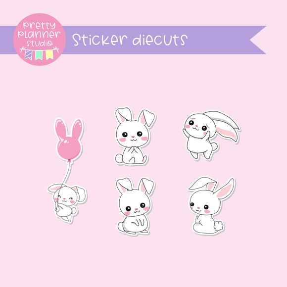 Easter - Bunnies | sticker diecuts | BM-005/2