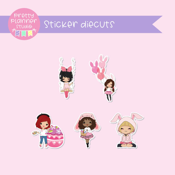 Easter - Girls | sticker diecuts | BM-005