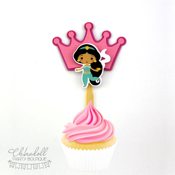 little princesses cupcake toppers | 12 pack | inspired by disney princesses