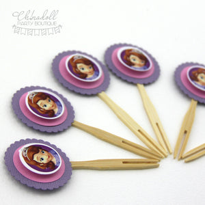 sofia the first cupcake toppers | 12 pack | READY TO SHIP