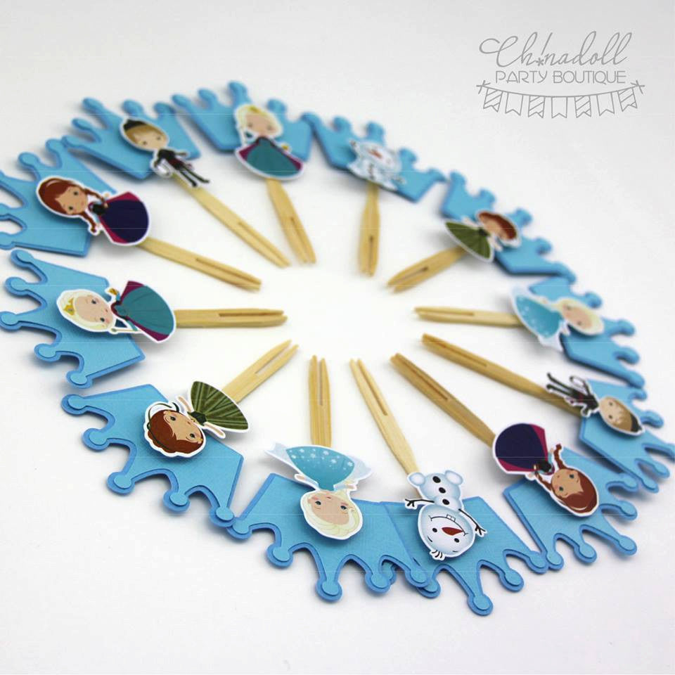 snow princesses cupcake toppers | 12 pack | READY TO SHIP | inspired by disney frozen
