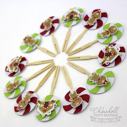 christmas pudding toppers | 12 pack | candyland