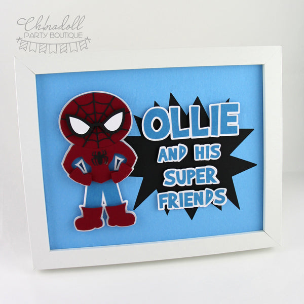 superheroes party sign | personalised | spiderman