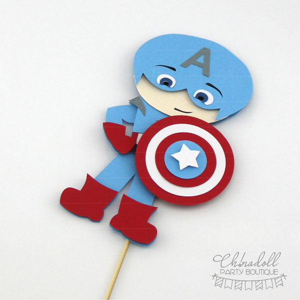 superheroes cake topper | captain america