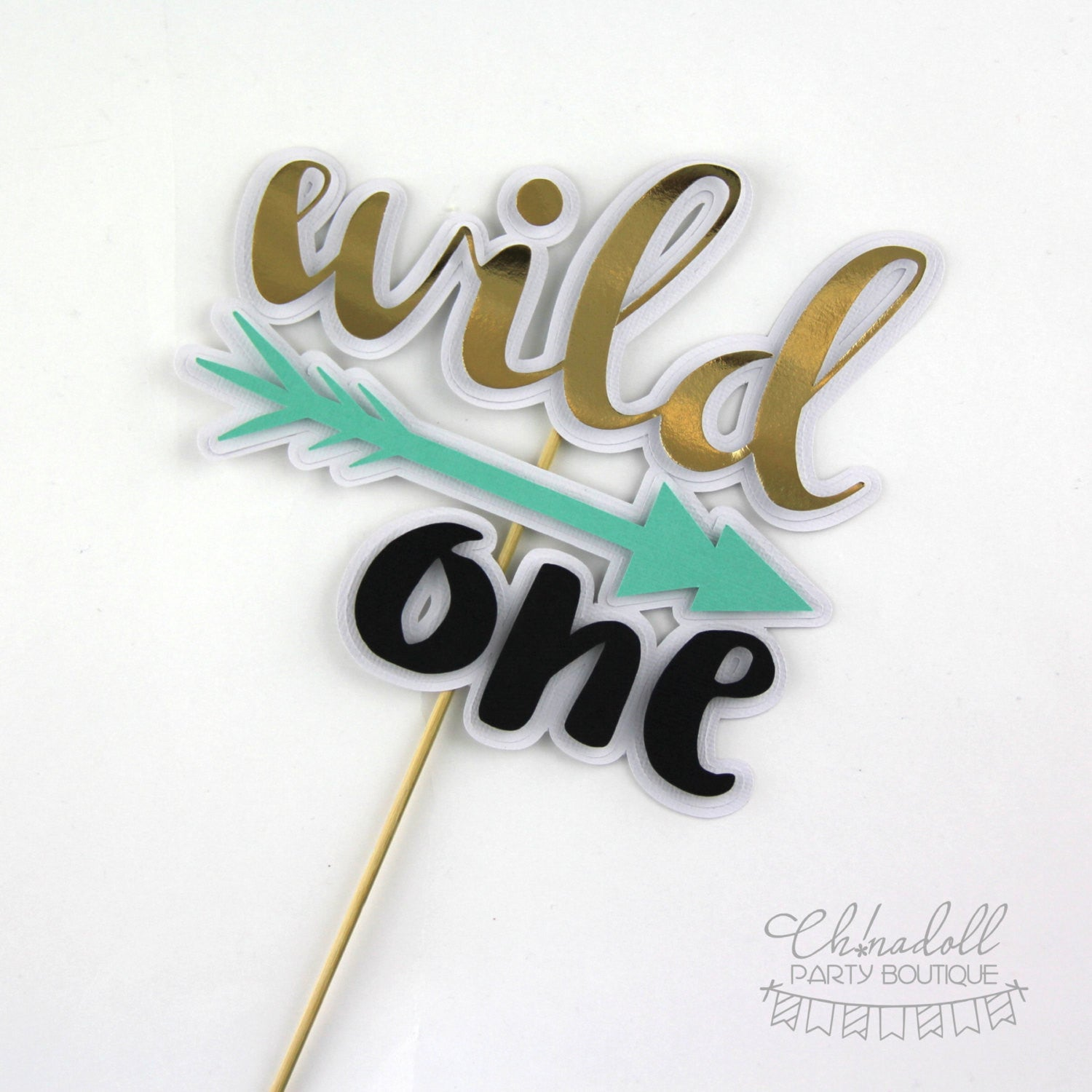 wild one cake topper | READY TO SHIP | first birthday | tribal