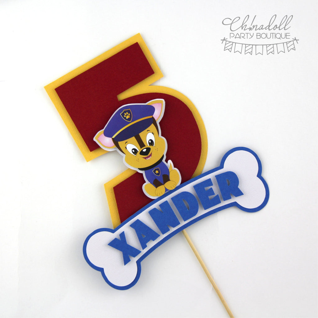 rescue pups cake topper | personalised | paw patrol