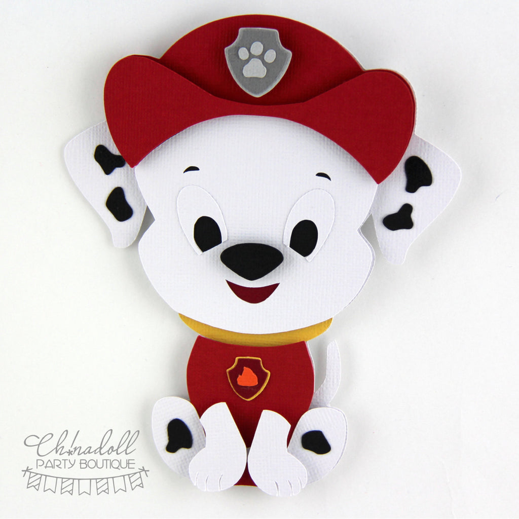 rescue pups backdrop decoration | paw patrol marshall