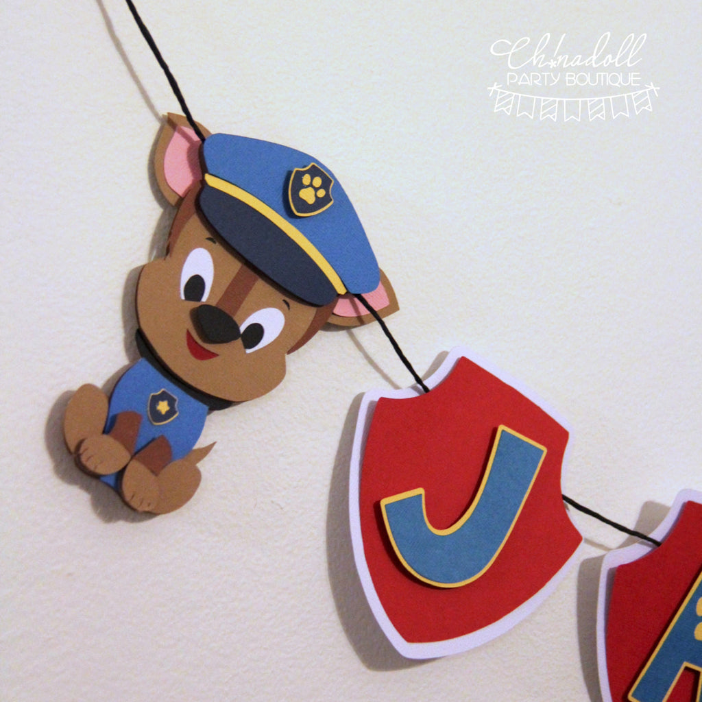 rescue pups party bunting | personalised | paw patrol