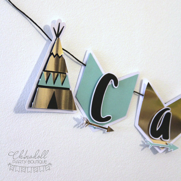 tribal party bunting | personalised