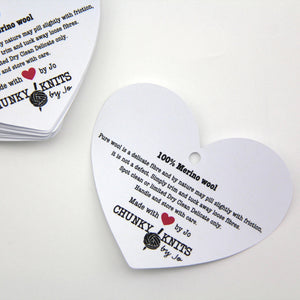 business swing tags | product care