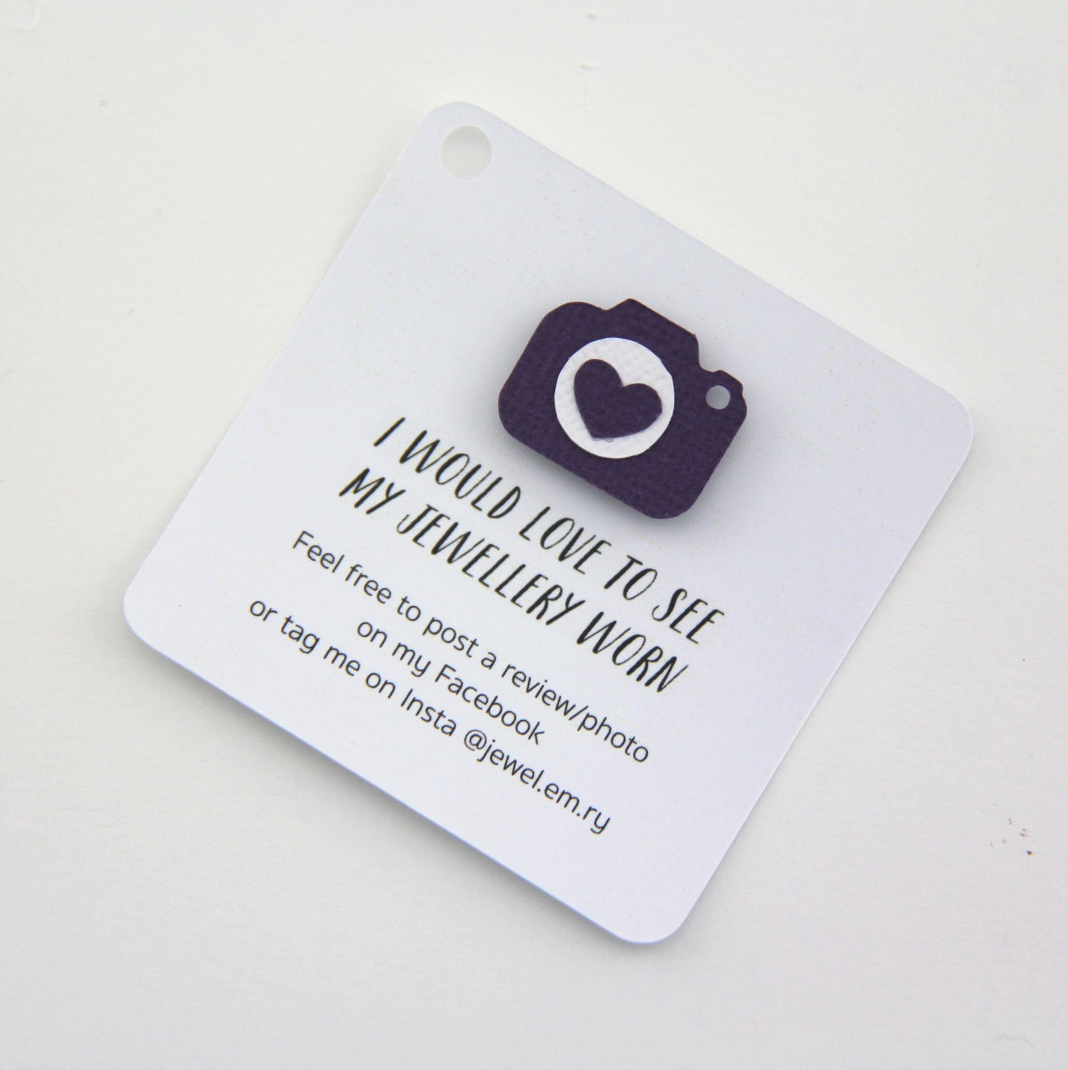 business swing tags | photo request