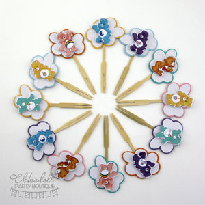 care bears cupcake toppers | 12 pack