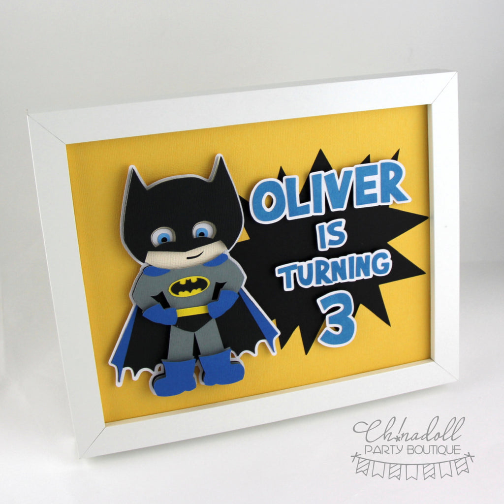 superheroes party sign | personalised | batman
