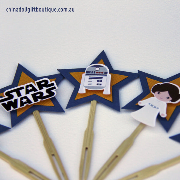 star wars cupcake toppers | 12 pack