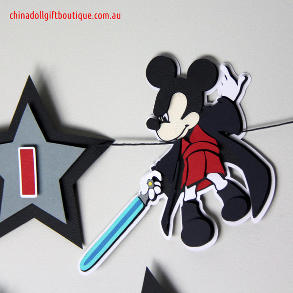 jedi mickey party bunting | personalised | inspired by disney mickey mouse star wars
