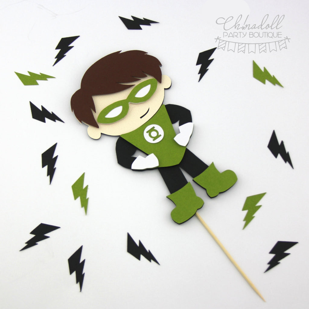 superheroes cake topper | green lantern