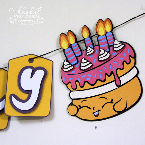 shopkins party bunting | personalised